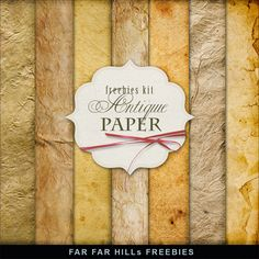 Far Far Hill - Free database of digital illustrations and papers: New Freebies Kit of Antique Paper
