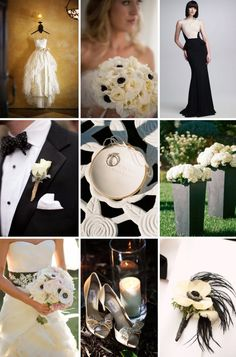 Buttercream and Black wedding color inspiration