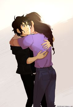 Nico and Reyna hugging is very important to me | art by nucleicacid