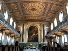 Chapel of St Peter and St Paul. The Old Royal Naval Colleges. Greenwich, England.