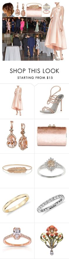 """""""Attending a Birthday Concert for King Carl Gustaf of Sweden at the Nordic Museum in Stockholm with Harry"""" by charlottedebora ❤ liked on Polyvore featuring Monique Lhuillier, René Caovilla, LE VIAN, Jimmy Choo, Daniela Villegas, Blue Nile and Kobelli"""