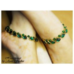 Green Kundan Anklet - Online Shopping for Anklets by Heartstrings by Jyoti Sudhir