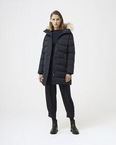 Nylons, White Ducks, Silhouette, Duck Down, Down Parka, Winter Looks, Fur Collars, Stay Warm, Winter Jackets