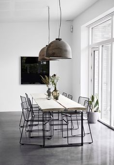 Simple furniture in the dining room