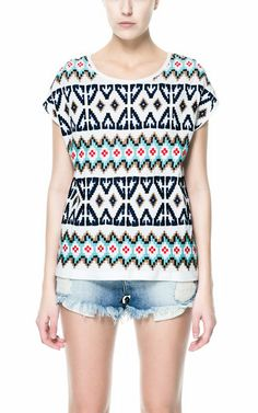 EMBROIDERED T-SHIRT from Zara