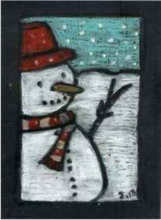 Sneeuwpop van krijt getekend op deur Robijn. Christmas Art Projects, Winter Art Projects, Winter Crafts For Kids, Winter Thema, Fox Crafts, Winter Diy, Kindergarten Art Projects, Newspaper Crafts, Art Plastique