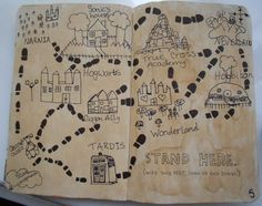 I wanted to do something a little different so I took inspiration from the Marauders map from Harry Potter.