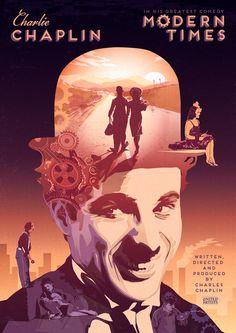 Charlie Chaplin 'Modern Times' Poster.