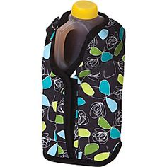 Insulated jug cover. I want to experiment with the quilted material and space blanket (metalized mylar). Also I want to include a patch of chalk board fabric as a label (eg. lemonade, unsweet, etc.)