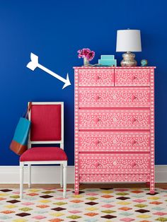 How to Paint a Dresser With Stencils | Easy Crafts and Homemade Decorating & Gift Ideas | HGTV