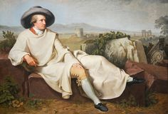 Goethe in the Roman Campagna by Johann Heinrich Wilhelm Tischbein, Goethe in the Roman Campagna, Johann Heinrich Wilhelm Tischbein, Canvas Dom Pedro I, Städel Museum, Famous Freemasons, Goethe's Faust, Rome, Honore Daumier, Johann Wolfgang Von Goethe, Classical Antiquity, Language And Literature