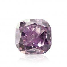 0.15 carat, Fancy Intense Pink Purple, Cushion Shape, (I1) Clarity, GIA, SKU 147844
