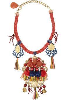 Dolce & Gabana raffia necklace