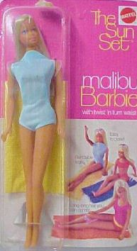 Even though I LOVE a glam Barbie, this one has to be my favorite from memory.  She was my first Barbie. I loved her hot pink glasses and her yellow fringes towel.  I hated the high neckline on her suit but I had soooo much fun cutting her hair :)