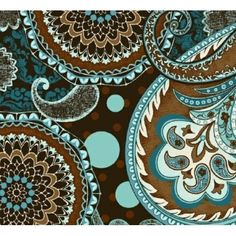 Amazon.com: Marcus Brothers 'French Dress' Teal and Brown Paisley Cotton Fabric By the Yard: Arts, Crafts & Sewing