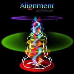 Alignment, an original chakra energy digital illustration by Katana created for WalksWithin.com