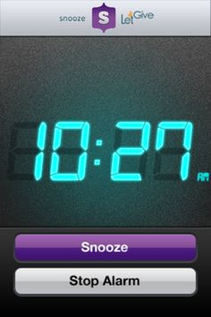 Snooze.app that donates $0.25 to charity every time you hit the Snooze button. What a great idea.