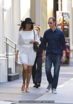 Padma Lakshmi walking in Soho http://icelebz.com/events/padma_lakshmi_walking_in_soho/photo1.html