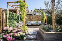 The Best Stone Outdoor Patio Suggestions Gazebo Pergola, Rustic Pergola, Backyard Seating, Eco Garden, Terrace Garden, Dream Garden, Beach Gardens, Small Gardens, Outdoor Gardens