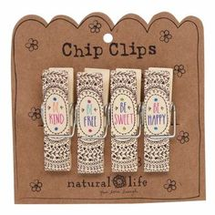 Chip Clips Mandalas Be Happy