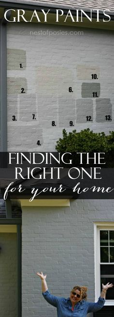 Exterior Gray Paint Colors - finding the right one for your home
