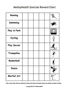 Kids exercise reward chart - motivate kids to get active! Could it work for adults too? Nutrition Tracker App, Nutrition Club, Nutrition Quotes, Nutrition Education, Nutrition Classes, Nutrition Shakes, Educational Activities For Preschoolers, Health Activities, Corona