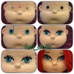 Mesmerizing Crochet an Amigurumi Rabbit Ideas. Lovely Crochet an Amigurumi Rabbit Ideas. Crochet Eyes, Cute Crochet, Crochet Stitches, Amigurumi Patterns, Amigurumi Doll, Doll Patterns, Crochet Amigurumi, Pinterest Crochet, Doll Eyes