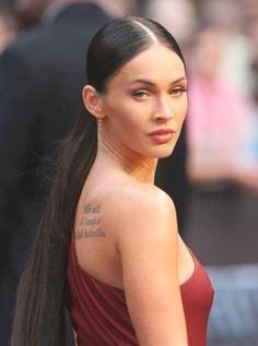 7 Hot Hairstyles for Long Faces: a low pony –  Megan Fox