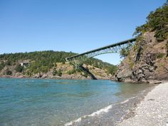Thanks to endless miles of protected coastline, the beaches in the Pacific Northwest are some of the most breathtaking in the U.S....Deception Pass State Park, Washington