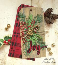 Woodland Tag by bearpaw - Cards and Paper Crafts at Splitcoaststampers Christmas Paper Crafts, Noel Christmas, Christmas Decor, Etiquette Vintage, Handmade Gift Tags, Christmas Tags Handmade, Wood Tags, Holiday Gift Tags, Theme Noel
