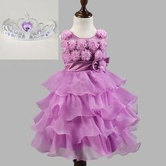 Sisiprincess Summer Style Children Girls Sleeveless O-Neck Floral Bow Princess Casual Girl Party Dress 3 Girls Bows, Kids Girls, Cute Girls, Girls Designer Dresses, Girls Party Dress, Pageant Dresses, Cheap Dresses, Girl Outfits, Bridesmaid