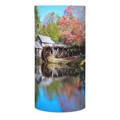 Autumn On The Blue Ridge Parkway At Mabry Mill Flameless Candle