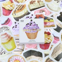 Need to satisfy your sweet tooth? These vibrantly printed dessert scrapbooking stickers will bring sweets to any DIY project or craft. Use these self adhesive sticker set for scrapbooking, journaling, or to embellish school work. Package Includes: 40 Stickers
