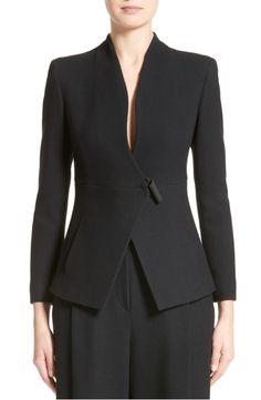 Main Image - Armani Collezioni Textured Stretch Wool Jacket