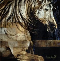 Check out http://kristinknightstudio.com!  Equine art unique mixed media commission work for any Kristin Knight Studio Equine fine art  collage oil unique mosaic technique colorado artist  commission horse portraits