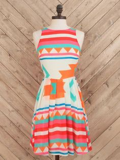 Illuminated Aztec Dress