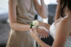 mother of the bride/groom wrist corsage - possibility if we are doing our own flowers