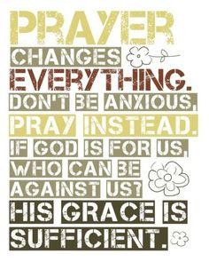 Pray, pray, pray.