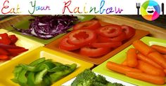 Eat Your Rainbow! Inspire your kids to eat their veggies by eating from all the colors of the rainbow! What's your best tip for getting kids to eat healthy foods??