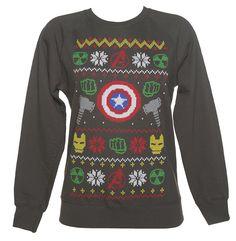 Marvel Superhero Symbols Ugly Christmas Sweater