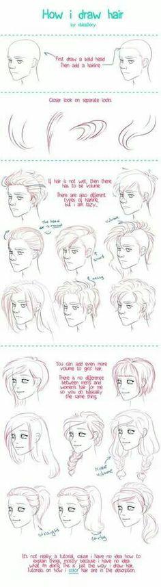 Dibujo de peinados caricatura