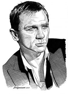 wsj hedcuts of harrison ford and daniel craig portrait on wall street journal online id=63338