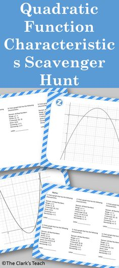 Applications of Quadratics Task Cards plus Guided Notes | Pinterest ...