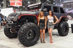 These Girls Love Diesel Trucks. Read more. Jeep Jk, Jeep Truck, Trucks And Girls, Car Girls, Big Trucks, Girl Car, Jeep Wrangler Girl, Jeep Wrangler Unlimited, Jeep Wranglers