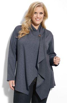 Bobeau One-Button Fleece Cardigan (Plus Size) | Your Fashion ...