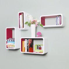 Cube Wall Shelf, Cube Shelves, Wooden Shelves, Wall Shelves, Floating Shelves, Living Room Furniture, Home Furniture, Buy Wood, Round Corner