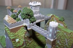 Minecraft castle exported with Mineways (http://realtimerendering.com/erich/minecraft/public/mineways/) and printed on a 3d printer.