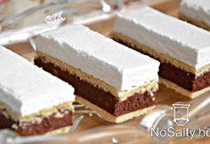 Kata szelet Hozzávalók 12 főre A tésztához: 60 dkg finomliszt 18 dkg… Hungarian Desserts, Hungarian Cake, Hungarian Recipes, Sweet Desserts, Sweet Recipes, Savarin, Croatian Recipes, Sweet Cookies, Cake Bars