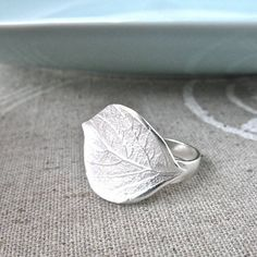 silver leaf adjustable ring by gama   notonthehighstreet.com