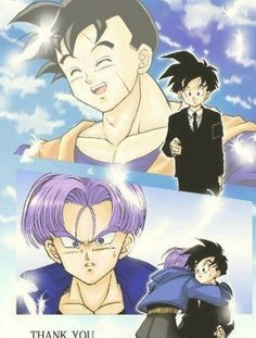 Gohan and Trunks. I love this piece! There's one thing that always rubs me the wrong way though. Why didn't Future Trunks show much interest in Gohan while visiting the present? In the future he was a really important person in Trunk's life yet we see an emotional disconnect. #DBZ